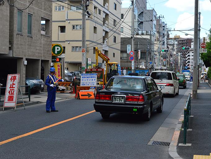 工事現場の交通誘導